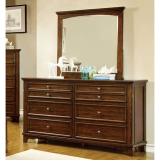 Furniture of America Farmstead Rustic 2-piece Dresser and Mirror Set