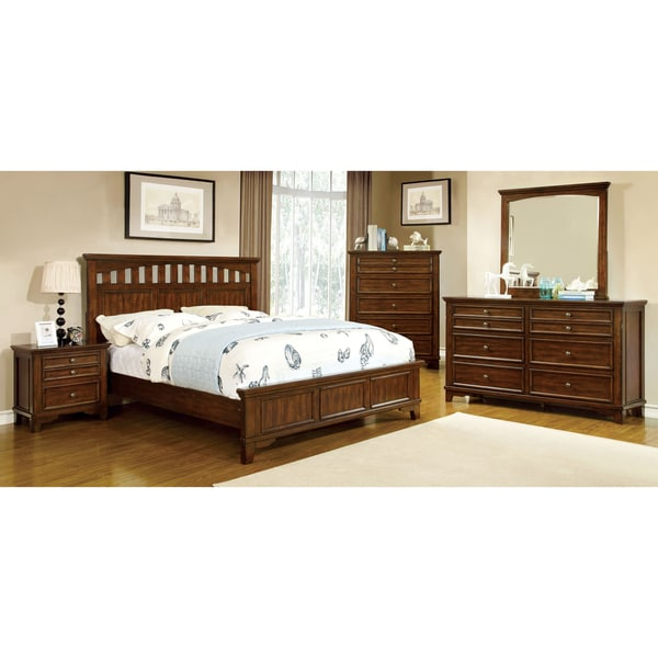Shop Furniture Of America Farmstead Rustic 4 Piece Bedroom Set Free Shipping Today Overstock