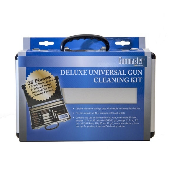 Gunmaster 35 Piece Universal Gun Cleaning Kit Aluminum Case