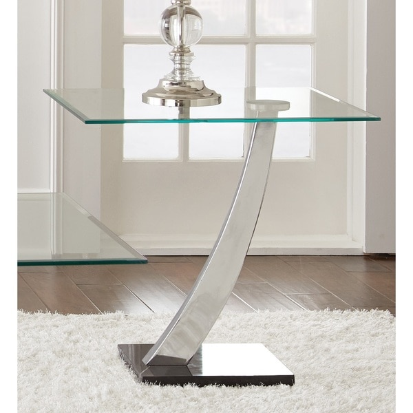 Kendal Chrome And Glass End Table By Greyson Living