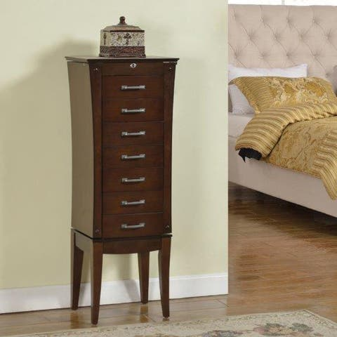 Wood Seven-drawer Jewelry Armoire