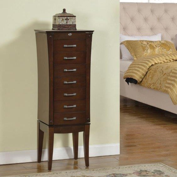 Wood Sevendrawer Jewelry Armoire Free Shipping Today Overstock