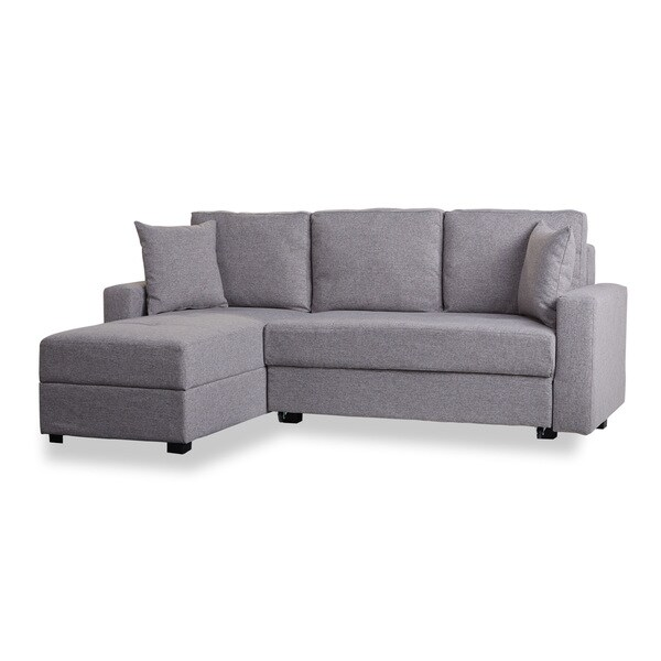 Aspen Ash Convertible Sectional Storage Sofa Bed   Free Shipping Today    Overstock.com   17316610
