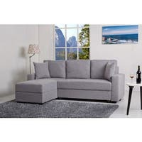 Aspen Black Convertible Sectional Storage Sofa Bed Free