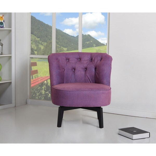 Shop Raleigh Purple Swivel Chair Free Shipping Today