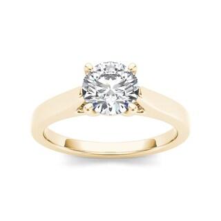 De couer 14k Yellow Gold 1ct TDW Diamond Exquisite Engagement Ring
