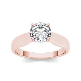 De Couer 14k Rose Gold 3/4ct TDW Diamond Classic Engagement Ring