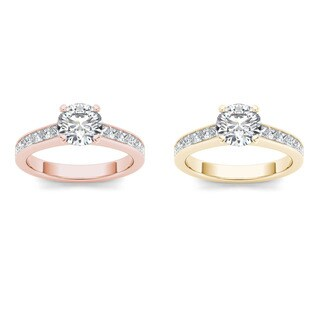 De couer 14k Gold 1 3/4ct TDW Diamond Classic Engagement Ring
