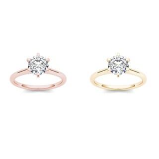 De couer 14k Gold 1ct TDW Diamond Classic Engagement Ring
