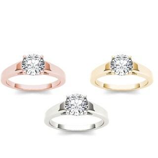 De Couer 14k Gold 1ct TDW Diamond Exquisite Engagement Ring