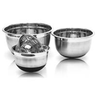 Stainless Steel Mixing Bowls Set with Non-Skid Silicone Bottoms 4-piece Set
