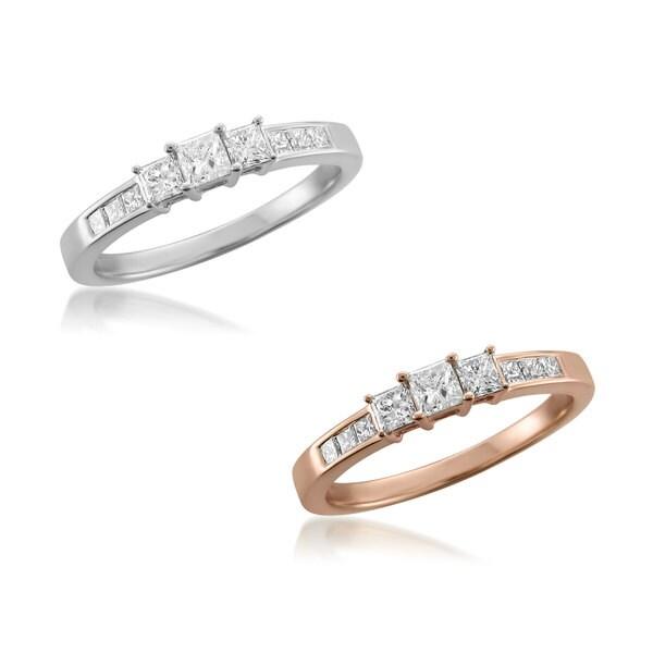 Montebello 14KT Gold 1/2ct TDW Diamond 3-Stone Engagement Ring