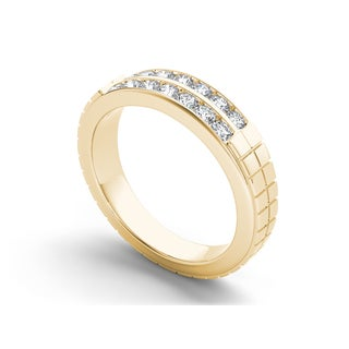 De Couer 14k Gold 3/4ct TDW Diamond Classic Men's Wedding Band (H-I, I2)