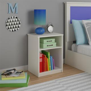 Altra Skyler White Kids Nightstand by Cosco