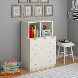 Altra Skyler White Kids Dresser with Cubbies by Cosco