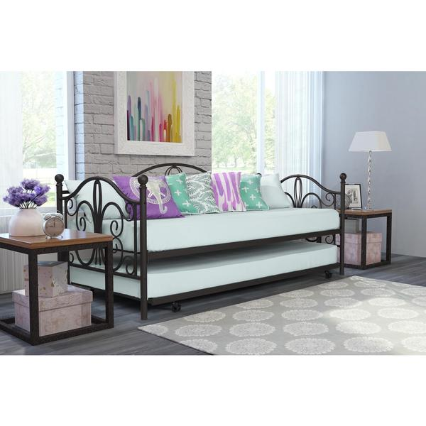 Shop Avenue Greene Bradley Metal Daybed And Trundle Free Shipping