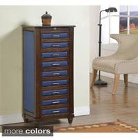 9-drawer Jewelry Armoire with Cushions