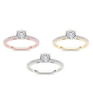 De couer 14k Gold 1 1/5ct TDW Diamond Classic Engagement Ring