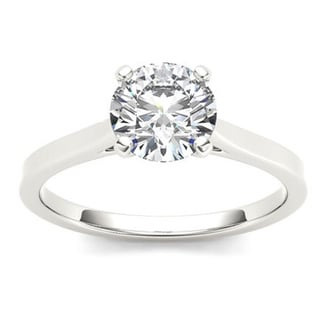 De Couer 14k Gold 1ct TDW Diamond Effulgent Engagement Ring