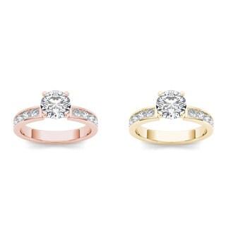 De couer 14k Gold 1 1/2ct TDW Diamond Classic Engagement Ring (H-I, I2)