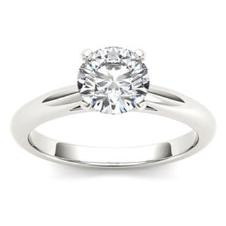 De Couer 14k Gold 3/4ct TDW Diamond Lustrous Engagement Ring
