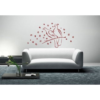 Doves Romantic Vinyl Sticker Wall Art
