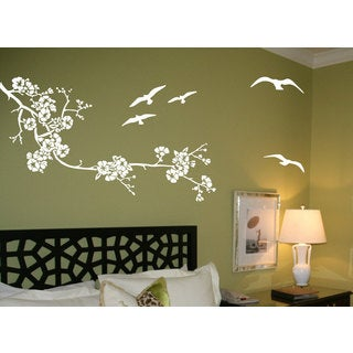 Birds and tree branch Vinyl Sticker Wall Art