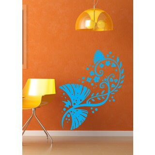 Flowers Swirls Floral Pattern Vinyl Sticker Wall Art