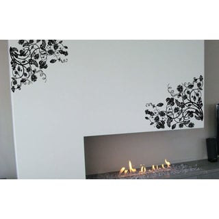 Flower Swirls Floral Pattern Vinyl Sticker Wall Art