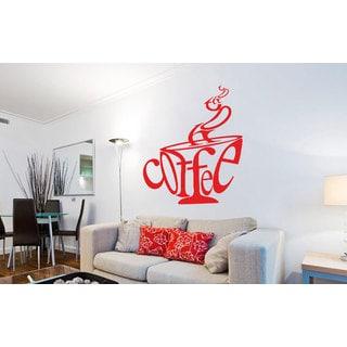 Coffee Cup Kitchen Vinyl Sticker Wall Art
