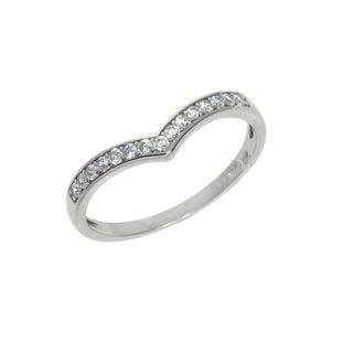 Eternally Haute Sterling Silver Pave Princess Tiara Ring