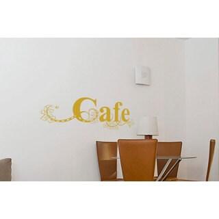 Cafe Sign Kitchen Vinyl Sticker Wall Art