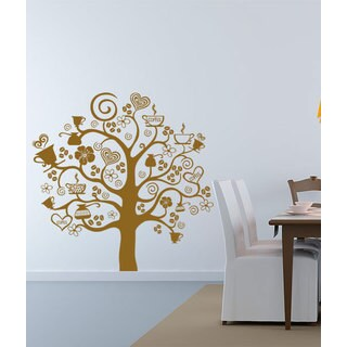 Coffee Tree Kitchen Vinyl Sticker Wall Art