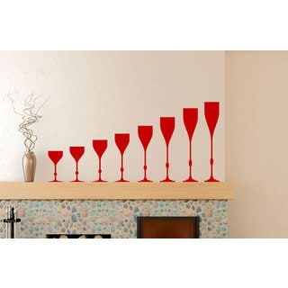 Wine Glasses Kitchen Vinyl Sticker Wall Art