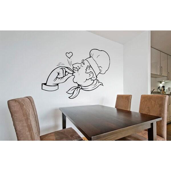 Chef Bon Appetit Kitchen Vinyl Sticker Wall Art