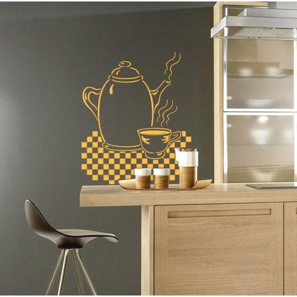 Shop Tea Party Tea Pot Kitchen Vinyl Sticker Wall Art - Free ...