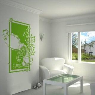 Tea Party Tea Pot Kitchen Vinyl Sticker Wall Art