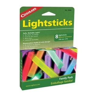 Coghlans 4-inch Lightsticks Family Pack (Pack of 8)
