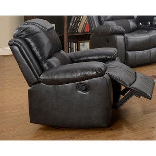 LYKE Home Felicia Black Reclining Chair