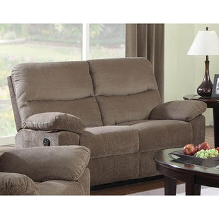 LYKE Home Farrel Coffee Color Motion Loveseat