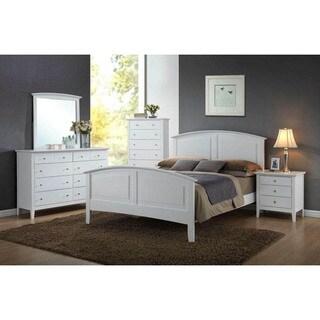 Lyke Home Whitney White Wood Bed