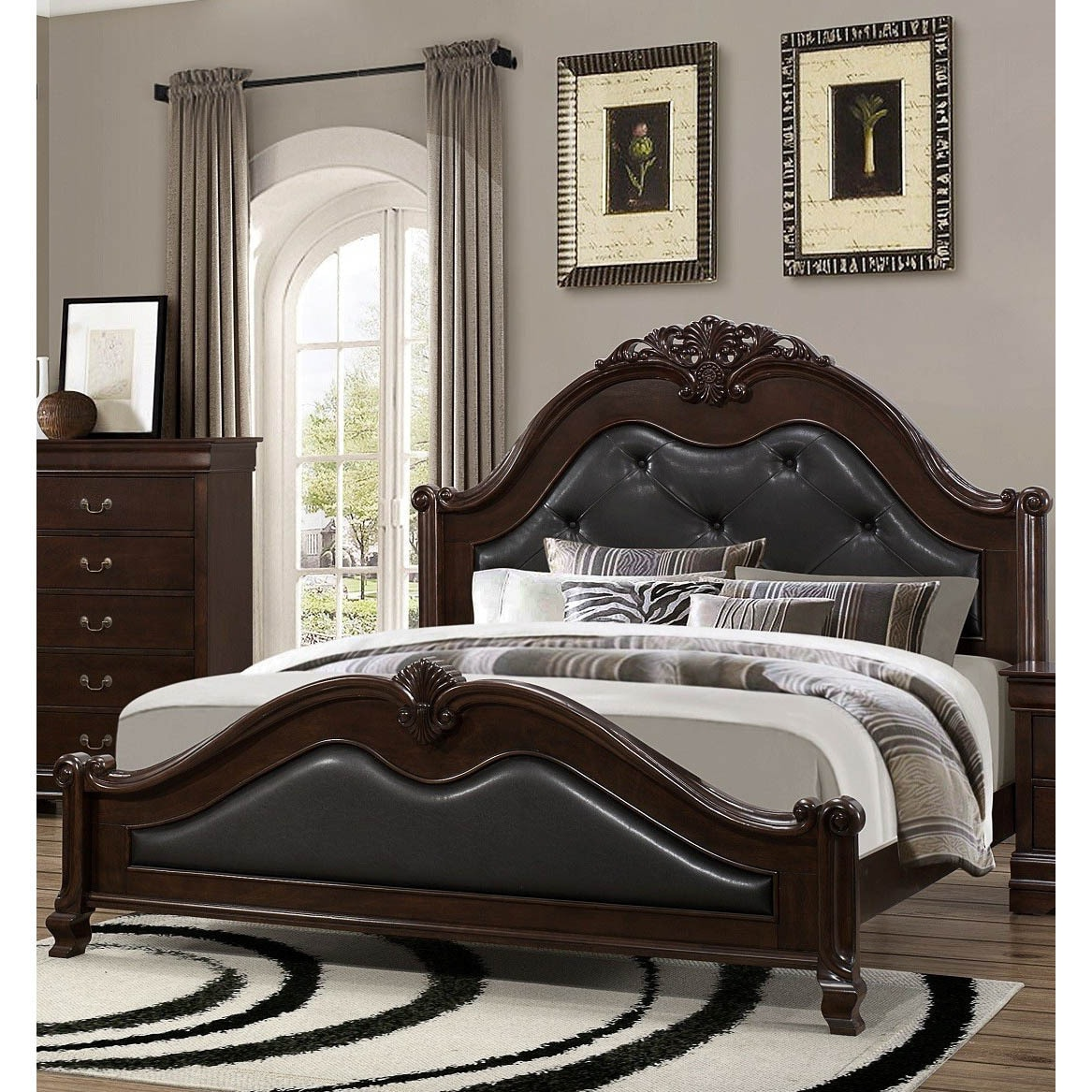 Lyke Home Cameron King Bed (Queen), Brown