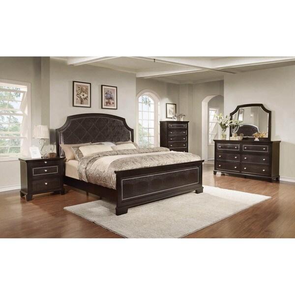 LYKE Home Metra Dark Espresso Bed