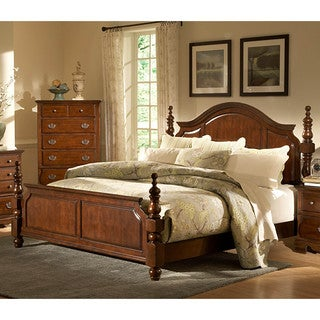 LYKE Home Cara Dark Cherry Bed