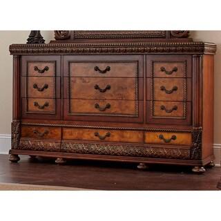 Lyke Home Bettina Mahogany 12-drawer Dresser