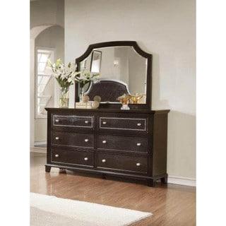 LYKE Home Metra Dark Espresso 6-drawer Dresser