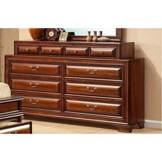 LYKE Home Cosart Cherry 10-drawer Dresser