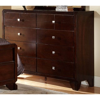 LYKE Home Phylis Merlot 8-drawer Dresser