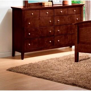 LYKE Home Whitney Brown 8-drawer Dresser