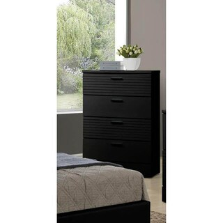 LYKE Home Moda Black F/E 4-drawer Chest
